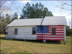 American Flag on home in Broxton, Ga