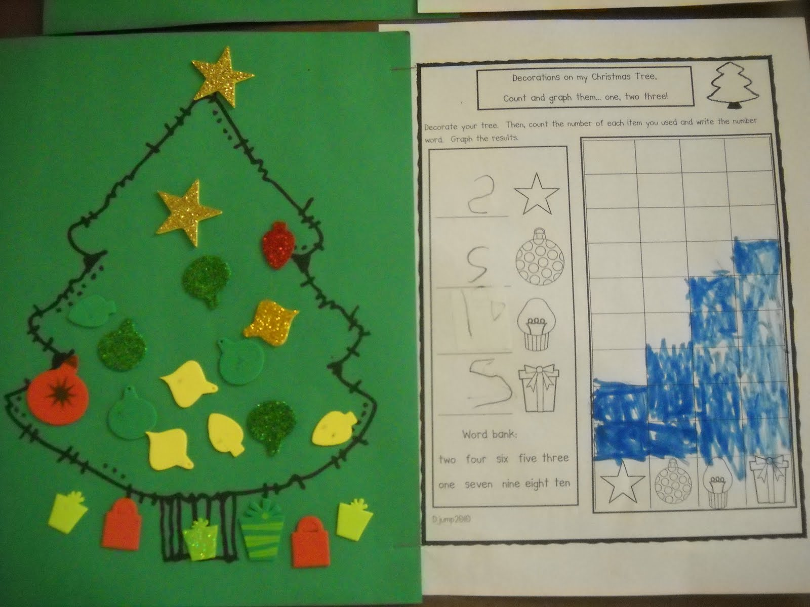 Mrs Wood S Kindergarten Class Chirstmas Tree Graphs
