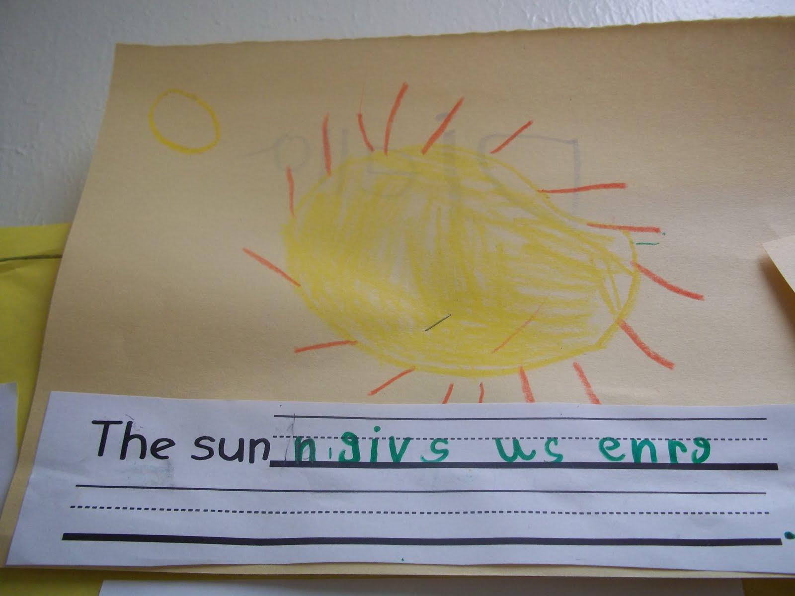 Mrs Wood S Kindergarten Class Objects In The Sky