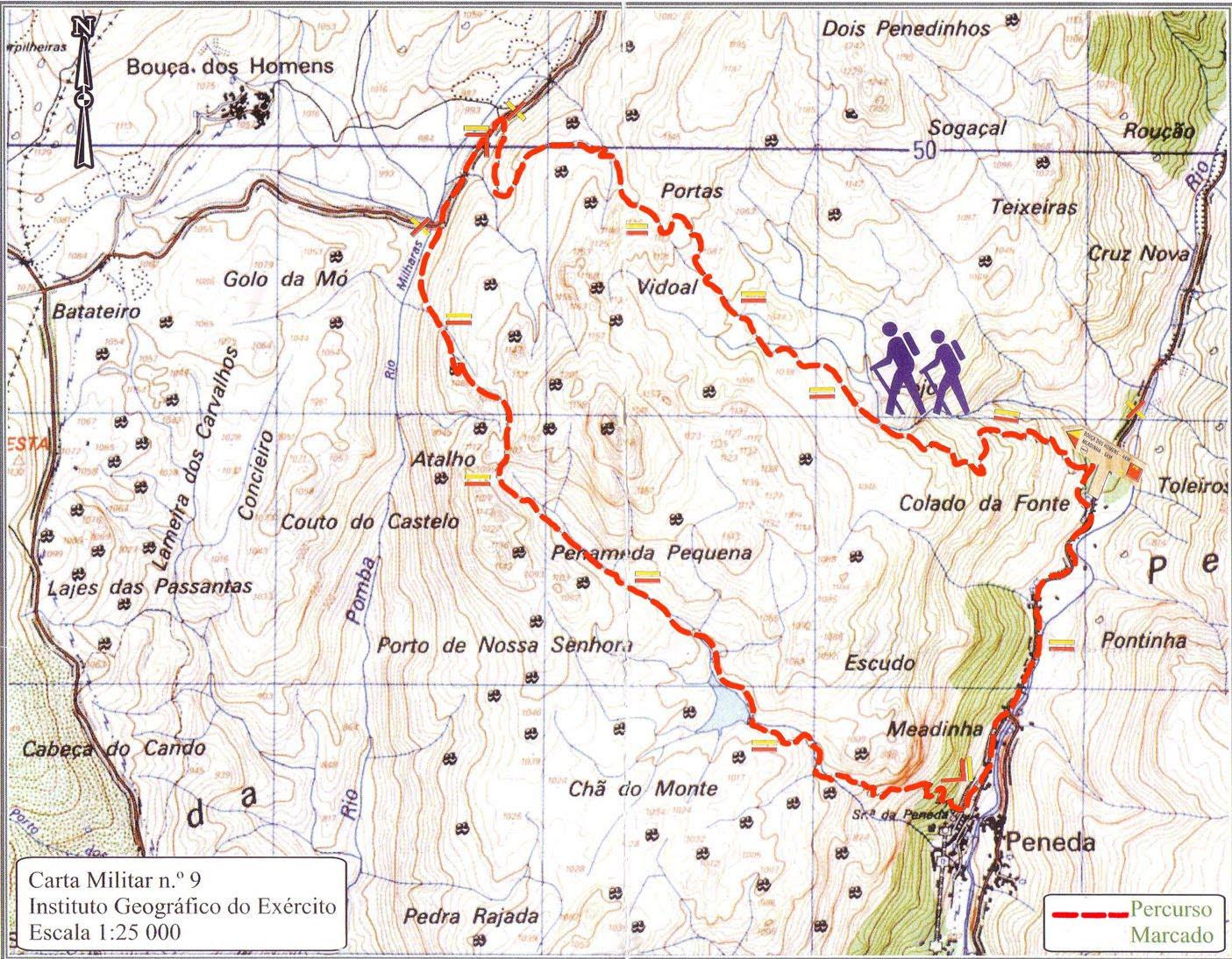 trilhos geres mapa Pedestrianismo e Percursos Pedestres: Trilho da Peneda (PNPG  trilhos geres mapa