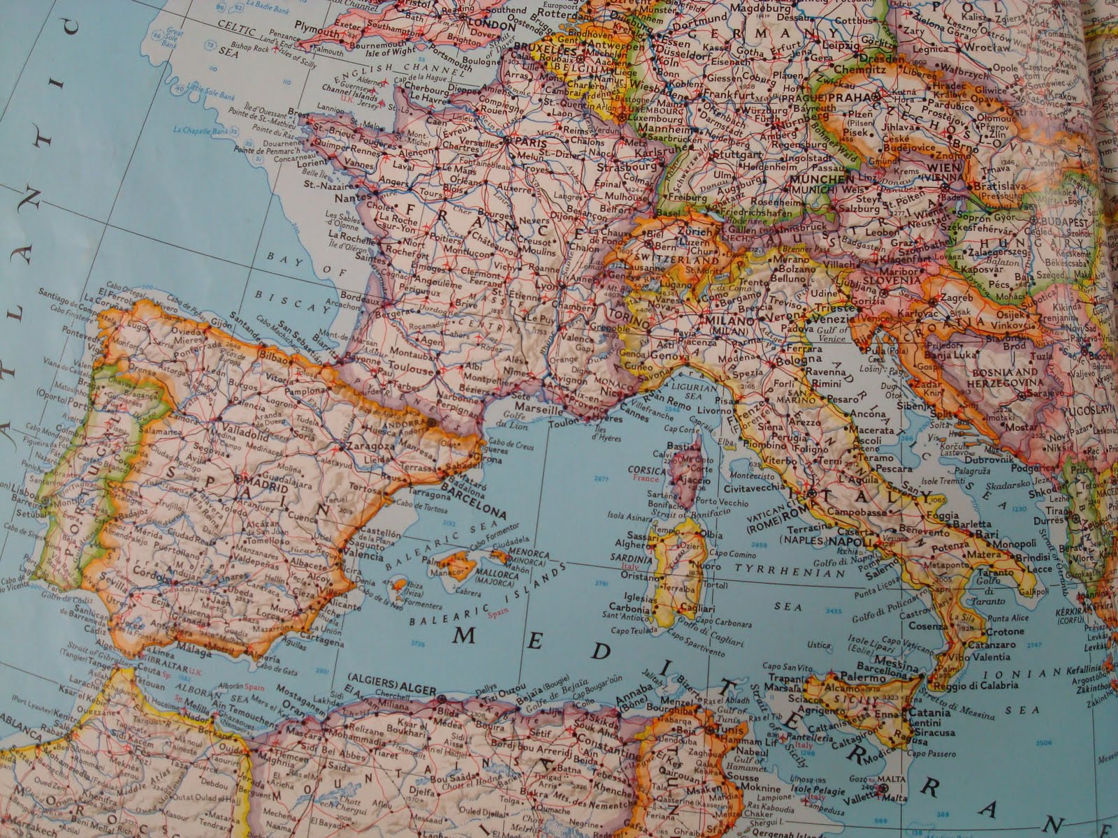 Escapades in Espana  Map of Spain  France and Italy Map of Spain  France and Italy