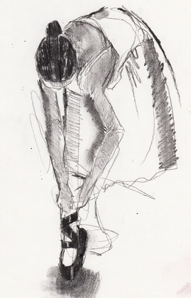 the art of the dance is like chocolate: ballerina tying