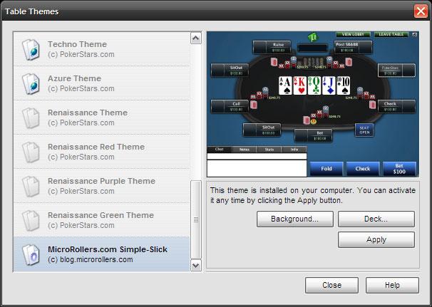 PokerStars Simple-Slick Theme