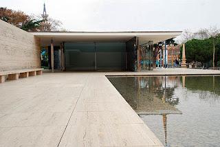 Pabellón Barcelona de Mies van der rohe. Histaoria, Imágenes, Análisis rquitectónico, etc.