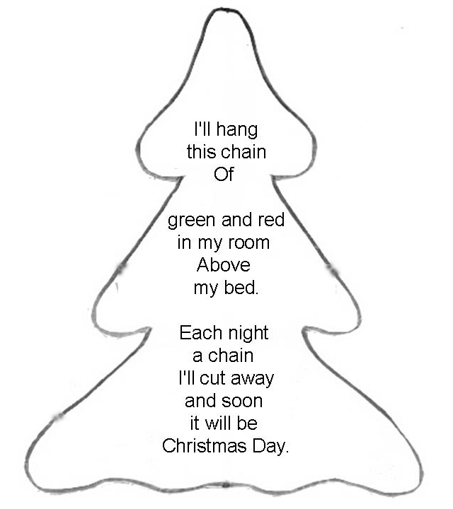 Poem About A Christmas Tree: All Things From My Hart: Christmas Count Down Tree