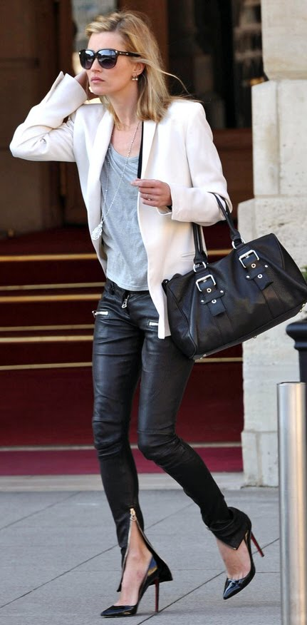Kate Moss Addicted To Leather Pants Lauren Conrad