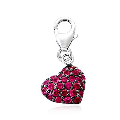Ruby Heart Charm