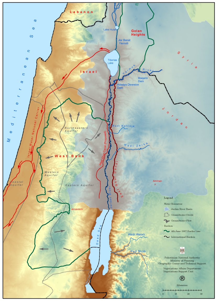 Jordan River Middle East Map.Case Study Water Crisis In The Middle East The Jordan River Basin