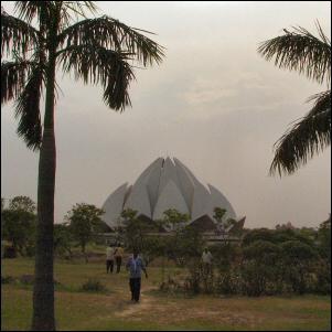 Lotus-temppeli Intian Delhissä