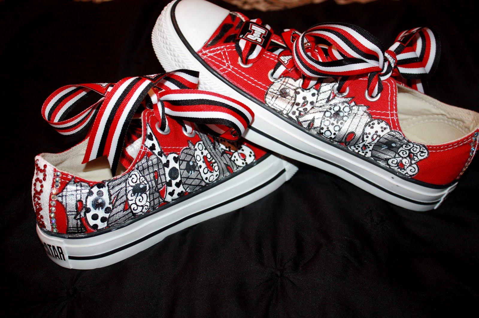 Arkansas Razorback Converse Shoes