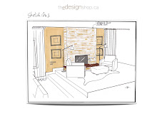 My Sketches - Fireplace Facelift