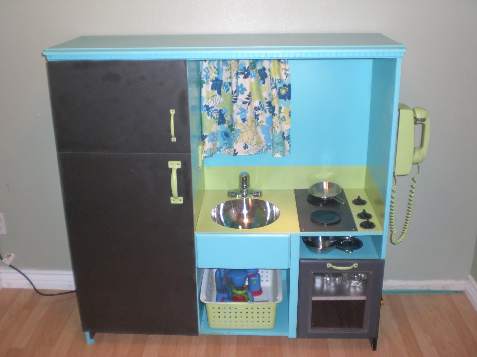 tv cabinet made into play kitchen project play kitchen diy plans using a used entertainment 27343