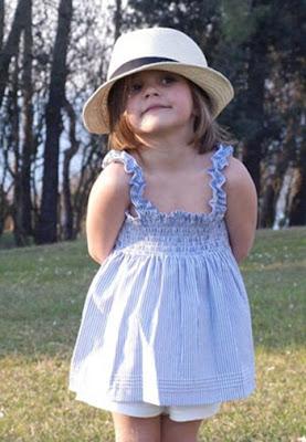Larstio  Vestido con sombrero para niña f8b334524fb