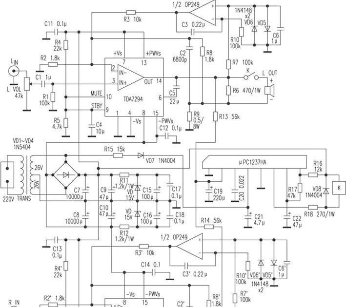 TDA7294 DC Servo Amplifier current negative feedback