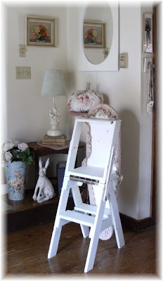 chair step stool ironing board leopard accent an enchanted cottage sources here s a photo of it in the position which i hadn t showed yesterday