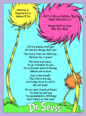 Kara S Party Ideas Dr Seuss Baby Shower Invitation