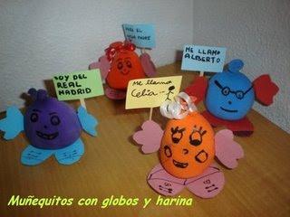 Globos Muñecos Con Globos Y Harina