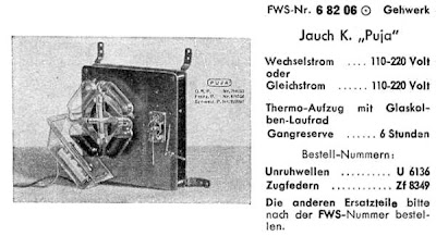 1940 Puja Thermo-Pneumatic Clock