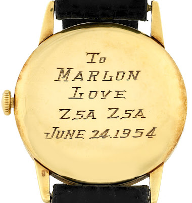 Marlon Brando's 1954 On The Waterfront Vacheron & Constantin Watch Auction