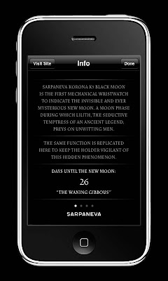 Watch Your Black - Sarpaneva Watches Introduces Moonphase iPhone Application