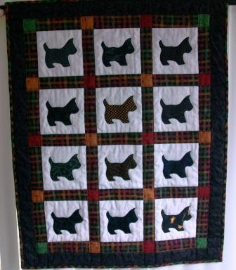 Sutured for a Living: Ashley's Scottie Dogs Quilt : scottie dog quilt pattern - Adamdwight.com