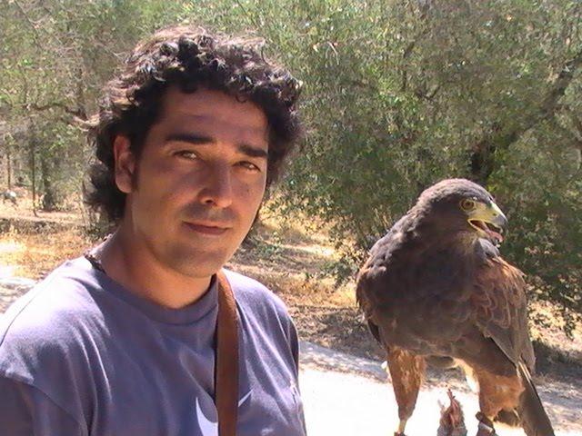 """Mi gran amigo y compañero de batallas Jose, con su magnifica hembra de harris """"La Nieta"""""""