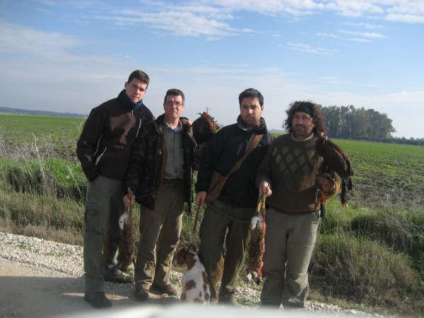 Una buena mañana de caza junto a mis grandes amigos Rafa, Selu y Álvaro