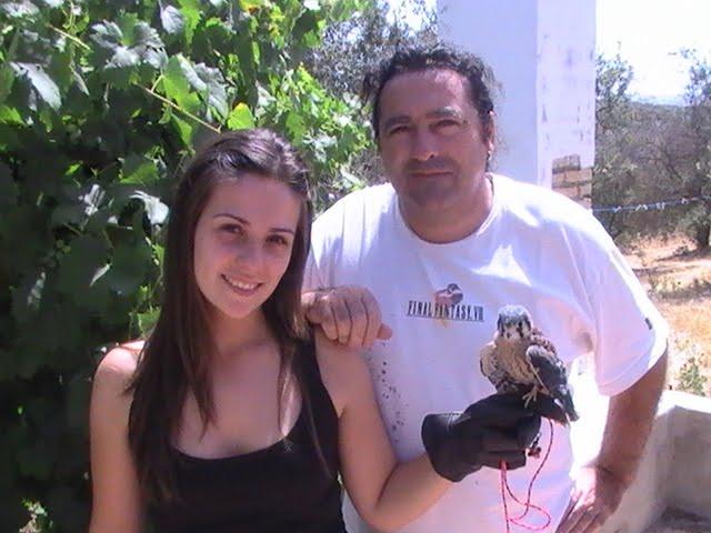 Cristina, mi amiga cetrera y su macho de yanky