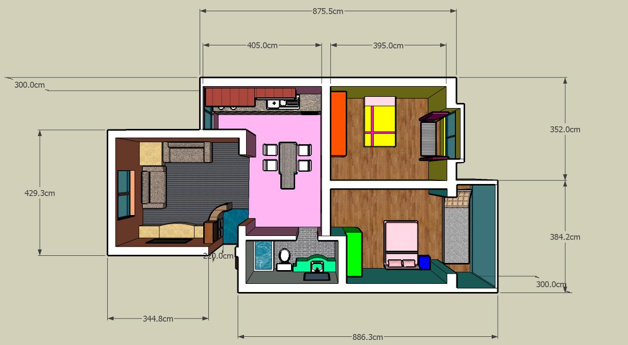 Viola 2 anno cad 3d per progettare una casa for Progettare una casa