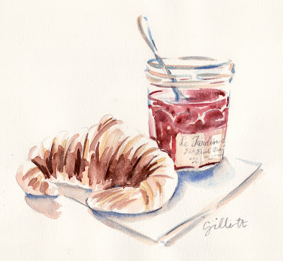 confiture watercolor - Paris Breakfasts