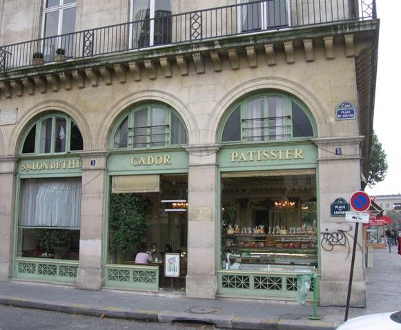 CADOR PATISSERIE exterior across from the Louvre