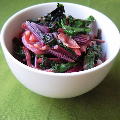 beet greens with prosciutto