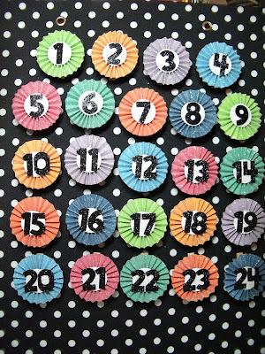 polka dot pineapple magnetic christmas countdown advent. Black Bedroom Furniture Sets. Home Design Ideas