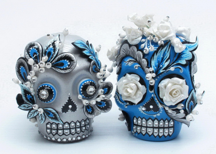skull wedding cake toppers skull lover wedding cake topper 0003. Black Bedroom Furniture Sets. Home Design Ideas