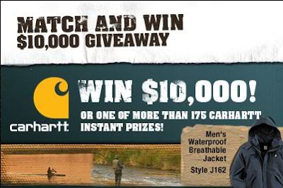 Carhartt Match and Win $10,000 Giveaway