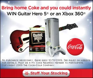 Coca-Cola Give the Gift of Gaming Holiday Instant Win