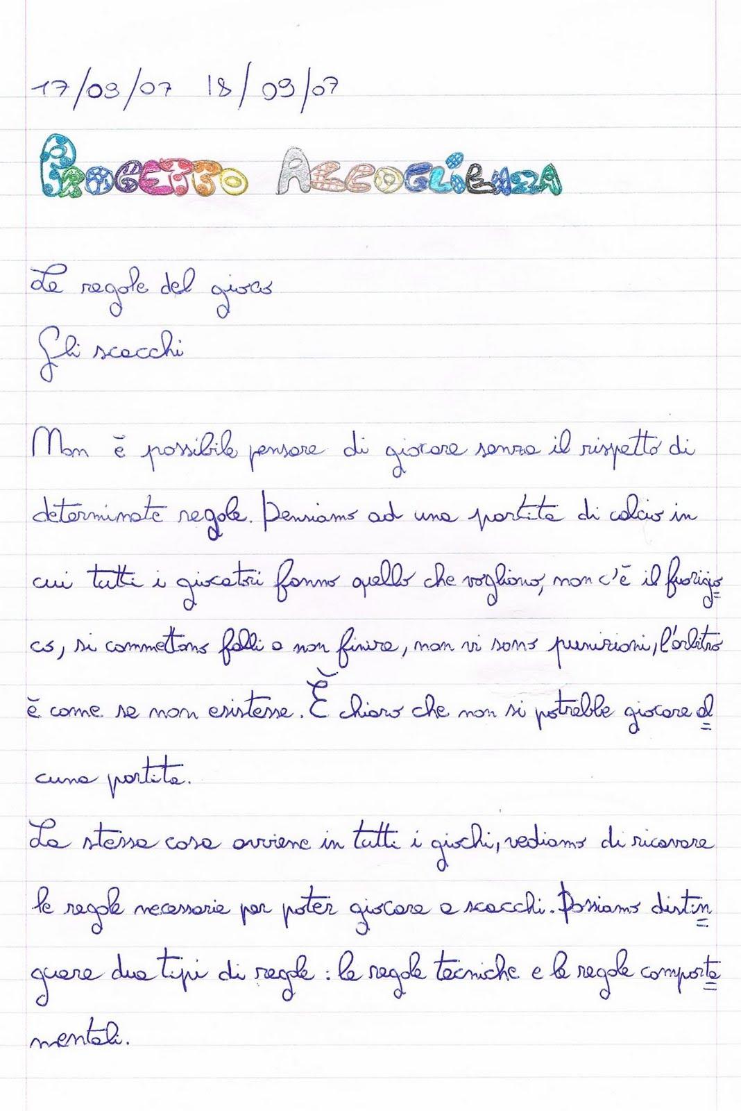 Primi giorni di scuola in classe quinta  italiano