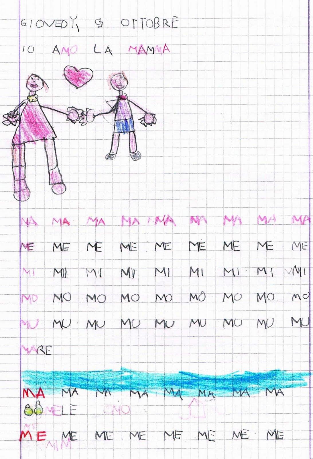 Lettura Della Frase Del Giorno La Consonante M Le Sillabe Ma Me