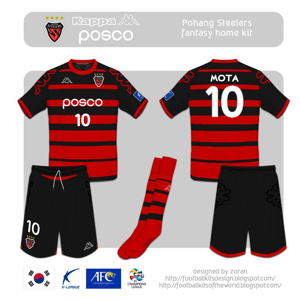 check out b832d c67fa coz i like football: Pohang Steelers fantasy kits
