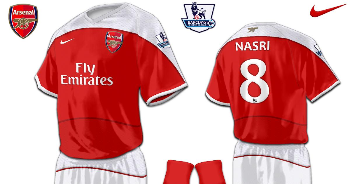 Football Kits Design: Arsenal Fantasy Kits