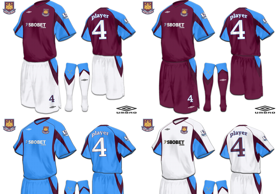Football Kits Design: West Ham United F. C. Fantasy Kits