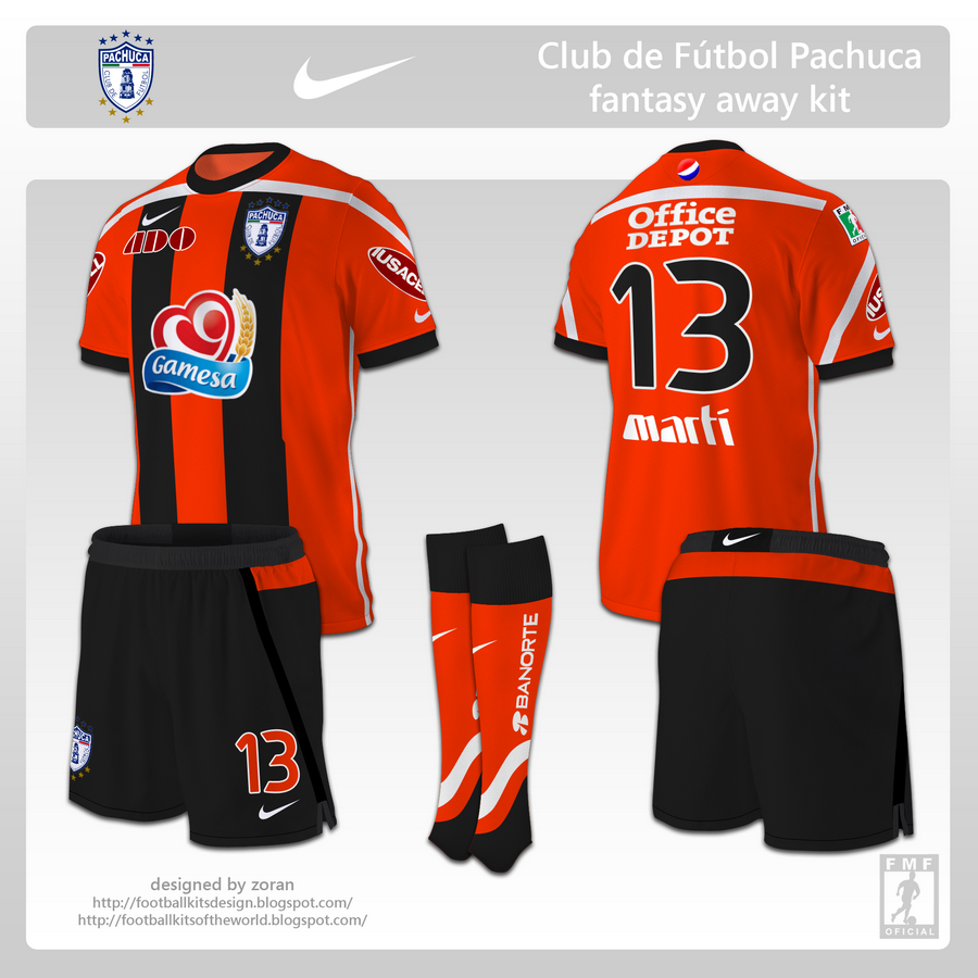 603ae21707a The away kit is orange and black, same template as the home one, the only  difference is that the back of the shirt has no black stripes.