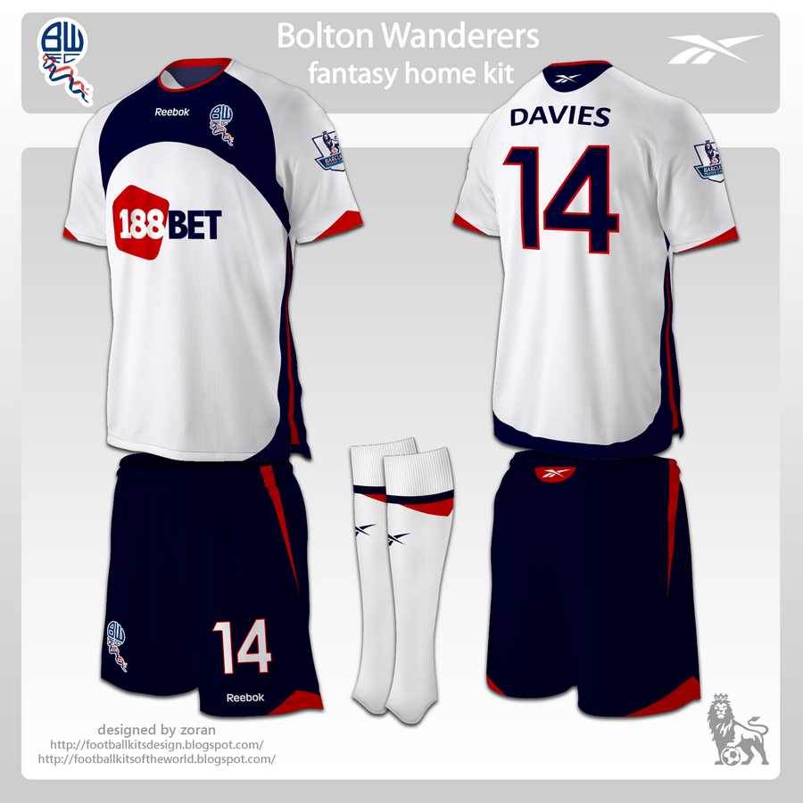 5cab7755e95 This is a requested design for Bolton Wanderers, made on the template used  for FC Sydney and Internacional, with some changes. The home kit has white  shirt ...