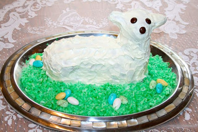 Catholic Cuisine A Lamb Shaped Cake For Easter