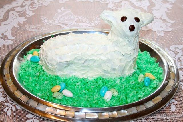 Catholic Cuisine A Lamb Shaped Cake For Easter