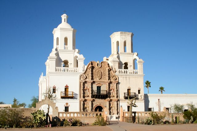Shower of Roses: San Xavier Mission