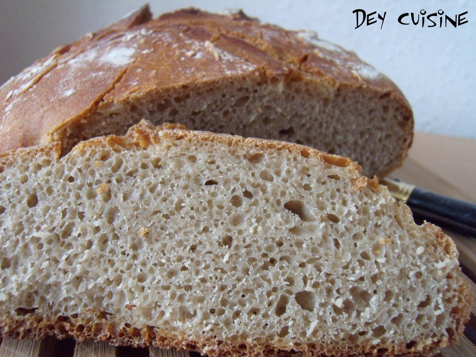 dey cuisine le pain maison c 39 est bon pain complet au. Black Bedroom Furniture Sets. Home Design Ideas