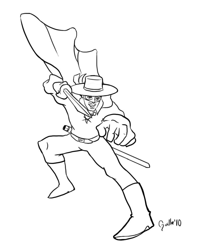 Blame it on guille zorro for Zoro coloring pages