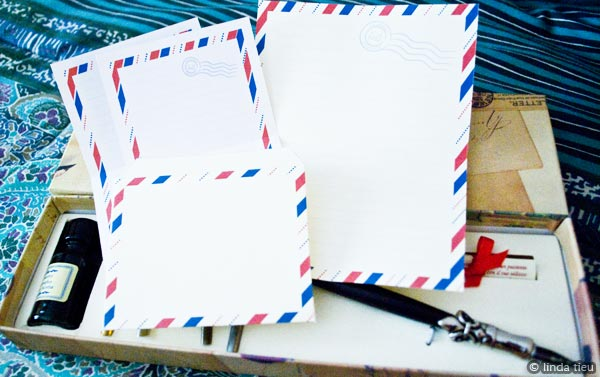 ♥Printable Vintage Airmail stationery Set♥ - Free Pretty ...