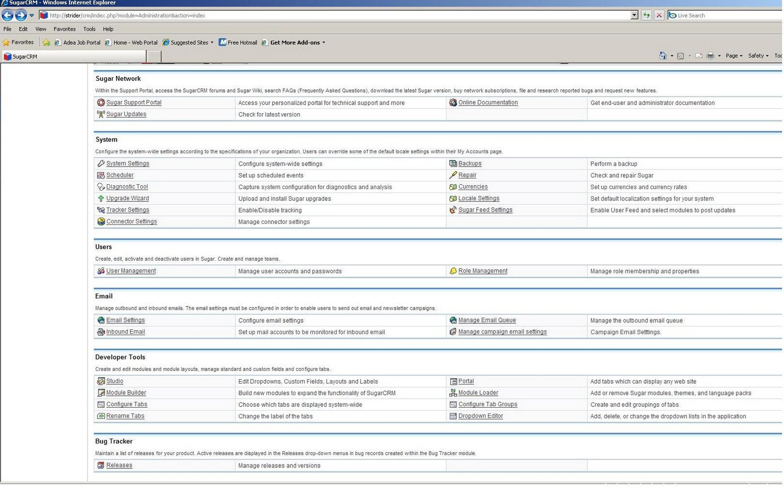 Jassem's Technology Blog: How to Install SugarCRM with SQL